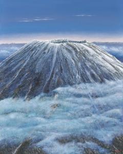 雲の中の蝦夷富士(羊蹄山) width=