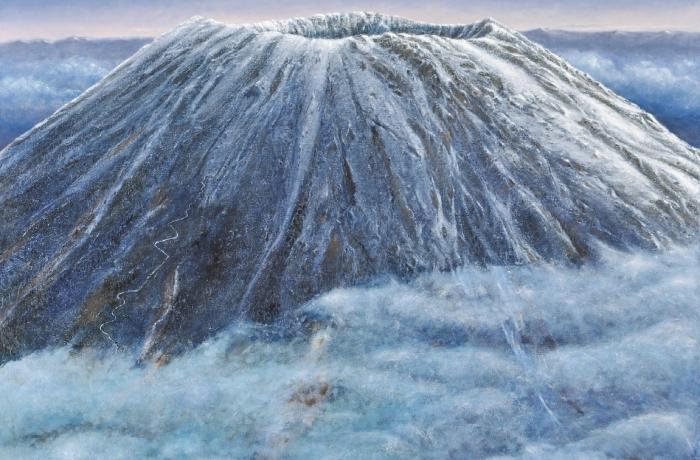 雲の中の蝦夷富士